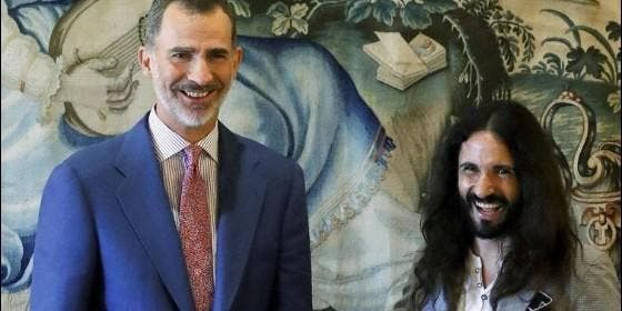 El rey Felipe VI y Baltasar Picornell