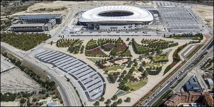 El proyecto de ajardinamiento del estadio Wanda Metropolitano. ATLÉTICO DE MADRID