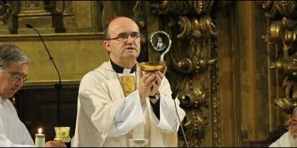 El obispo de San Sebastián, durante su homilía