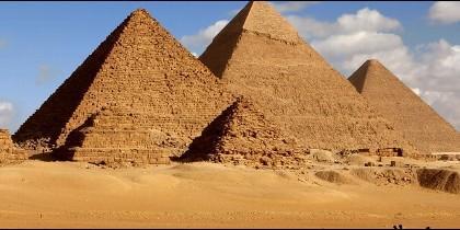 Las pirámides de Egipto.
