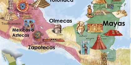 Aztecas y Mayas.