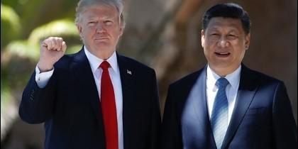 Donald Trump y el presidente chino Xi Jinping.