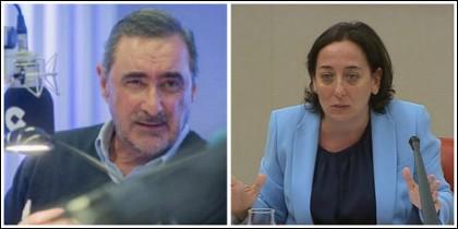 Carlos Herrera y la jueza Carmen Rodríguez Medel.