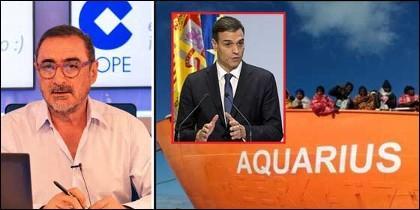 Carlos Herrera; Pedro Sánchez y el Aquarius.