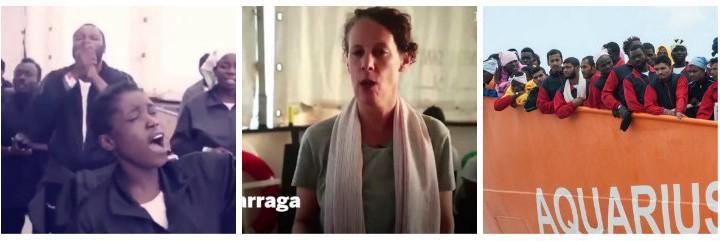 Naiara Galarraga, la corresponsal de El País a bordo del Aquarius.