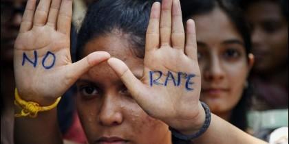 Protesta contra la violencia sexual en la India