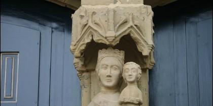 Talla gótica de la Virgen de la iglesia de Andra Mari, Gernika