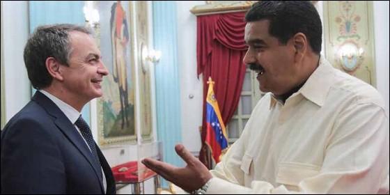 El socialista español Rodríguez Zapatero se reune con el chavista Nicolás Maduro (VENEZUELA).