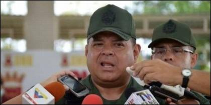 El general Alejandro Pérez Gámez, detenido en Venezuela por su supuesta implicación en el atentado contra Maduro.