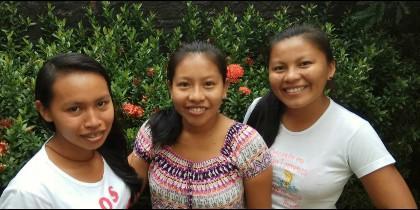 Juciele, Catiana y Rigoberta, novicias indígenas brasileñas