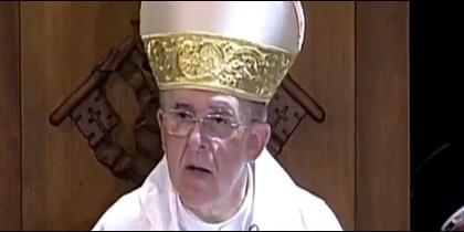 El cardenal Carlos Osoro, hoy, en la Misa de la Paloma