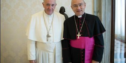 Peña Parra, con el Papa