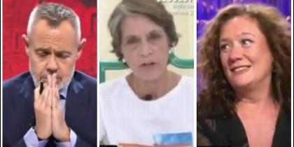 Jordi González, Pilar Gutiérrez y Cristina Fallarás.