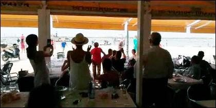 Abucheo a Pedro Sanchez en Doñana