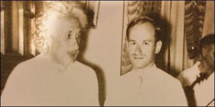 Einstein y su profesor de violín