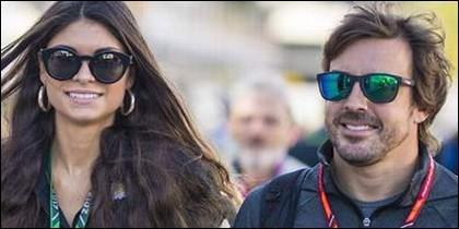Fernando Alonso y Linda Morsell