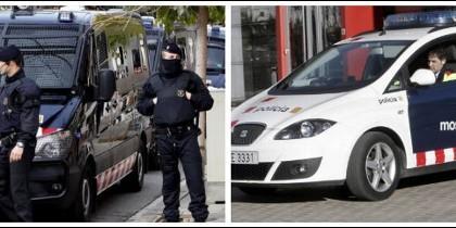 Una patrulla policial de los Mossos d'Esquadra.