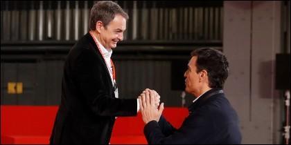 José Luis R. Zapatero y Pedro Sánchez, en una imagen reciente.