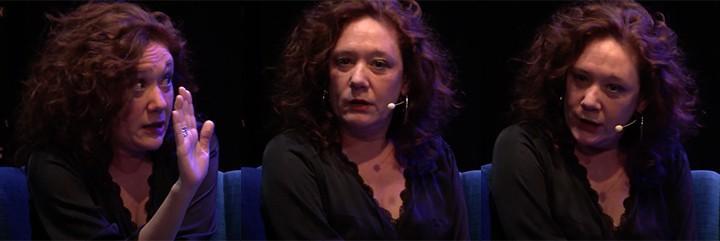 Cristina Fallarás en todo su esplendor en una entrevista.