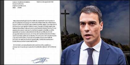 El socialista Pedro Sánchez, el Valle de los Caídos y la carta de la Fundación Francisco Franco.