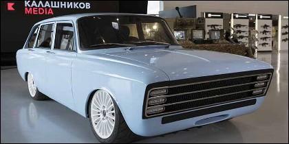 El coche CV-1 eléctrico fabricadom por Kalasnikov.