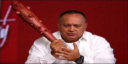 El verdugo chavista Diosdado Cabello, en su programa 'Con el mazo dando'