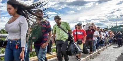 Diáspora: miles de venezolanos huyen cada día de la dictadura chavista.
