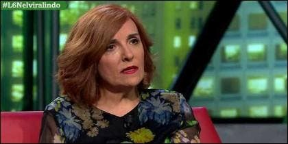 La escritora Elvira Lindo en 'LaSextaNoche'.