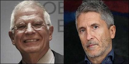 Josep Borrell y el juez Fernando Grande-Marlaska, ministros en el Gobierno Sánchez.