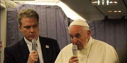 Francisco, en el avión papal