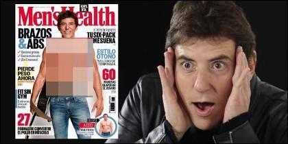El prsentador Manel Fuentes en la portada de 'Men's Health'.