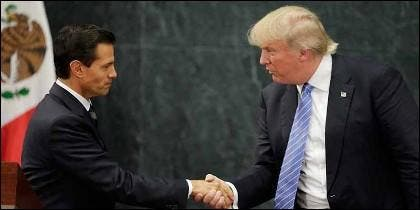 El presidente Enrique Peña Nieto (MEXICO) con el presidente Donald Trump (EEUU).