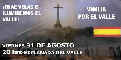 El acto de Movimiento por España en el Valle de los Caídos.