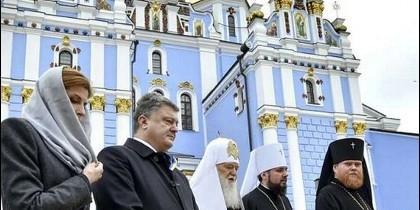 Poroshenko, con responsables de la Iglesia ucraniana