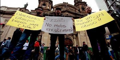 Protesta por los abusos en la Iglesia chilena