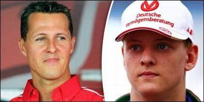 Michael y su hijo Mick Schumacher.