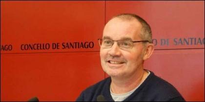 El podemita Xan Duro, concejal de Medio Ambiente, Convivencia e Informática de Santiago de Compostela.