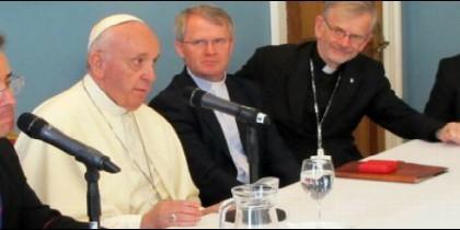 Reunión del Papa con los jesuitas irlandeses
