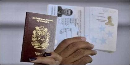 Pasaporte venezolano.