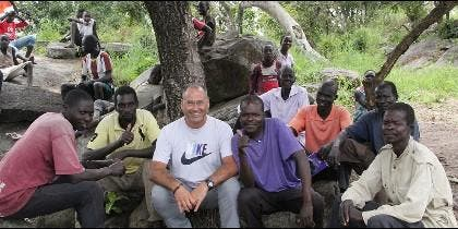 Alberto López, en el campo de refugiados de Palabek, Uganda
