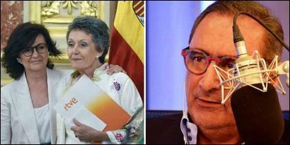 Carmen Calvo, Rosa María Mateo y Carlos Herrera.
