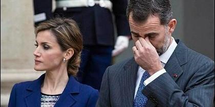 La reina Letizia y don Felipe