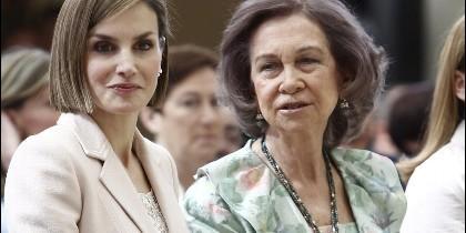 Las Reinas Sofía y Letizia, en una imagen de archivo.