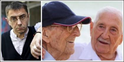 Juan Carlos Monedero y el vídeo de los dos combatientes guerracivilistas.