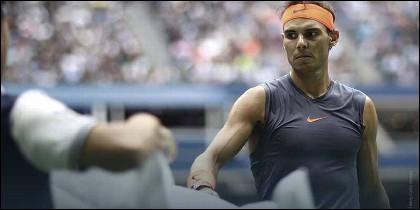 Rafa Nadal se retira en el US Open 2018.