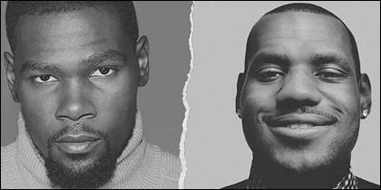 LeBron James y Kevin Durant.