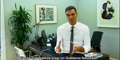 El vídeo de Pedro Sánchez en su despacho de La Moncloa