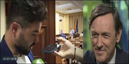 Gabriel Rufián (ERC) y Rafael Henando (PP), en laSextaNoche.