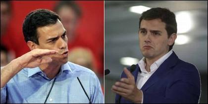 Pedro Sánchez (PSOE) y Abert Rivera (CIUDADANOS).