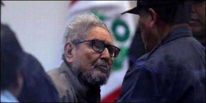 El líder y fundador del grupo terrorista Sendero Luminoso, Abimael Guzmán.